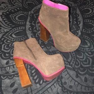 Dolce Vita Platform Heeled Booties Women's 8